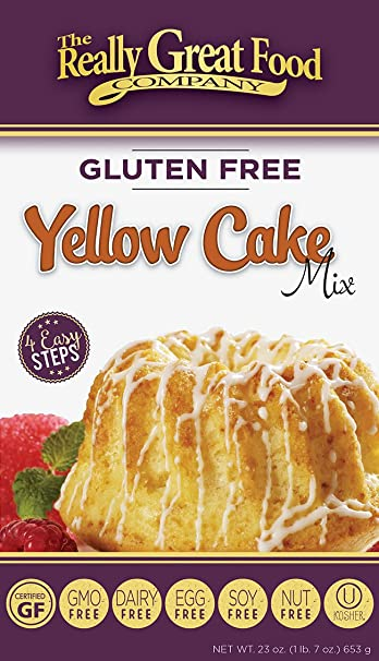 Really Great Food Company - Gluten Free Yellow Cake Mix - 23 ounce box - No  Nuts, Soy, Dairy, Eggs