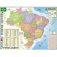 Mapa Escolar Brasil Politico/Regional x 1 Unidade, Multimapas 213, Multicor, Pacote de 1