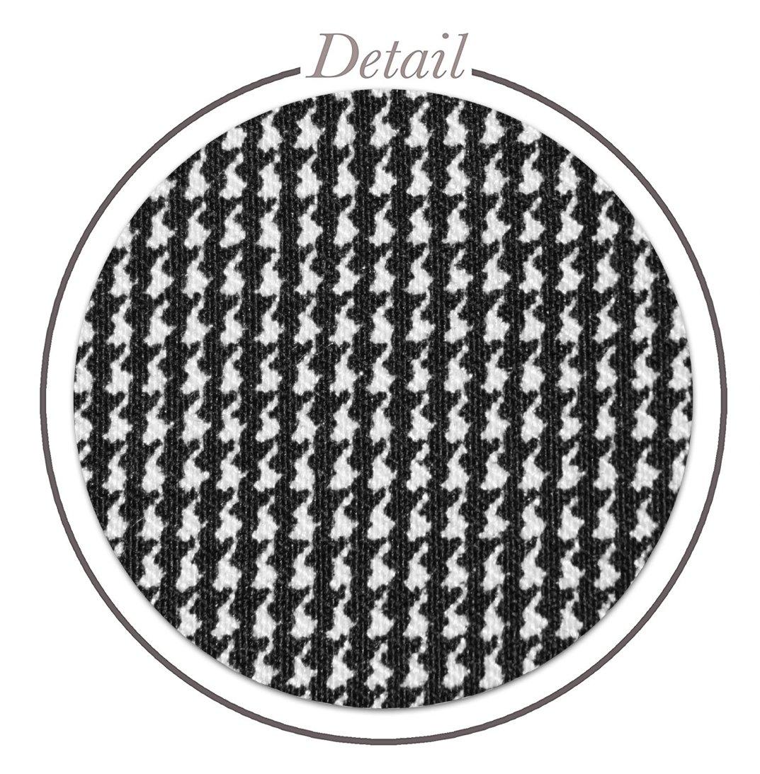 HyBrid & Company Womens Pencil Skirt for Office Wear KSK43584X 10690 Black/IVOR 1X by HyBrid & Company (Image #4)