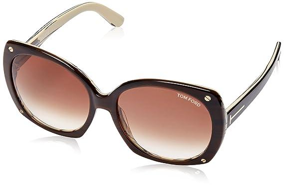 424e476edec Amazon.com  Tom Ford Gabriella Sunglasses in Dark Brown FT0362 50F 59   Clothing