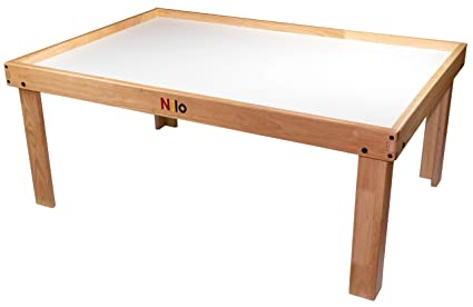 amazon com nilo n51n kid s table compatible with legos duplo rh amazon com nilo train table reviews nilo train table reviews