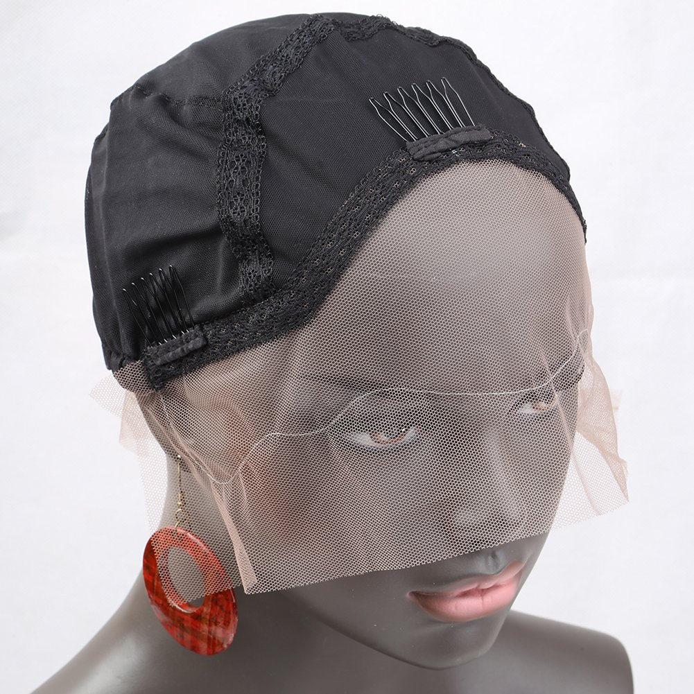 Amazon.com   Upgraded  Bella Hair Ventilated Lace Front Wig Cap for Black Women  Making Wigs with Adjustable Straps and Combs 85cd9ce8aa
