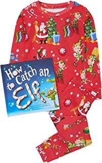 product image for Books to Bed Boys Girls Pajama - How to Catch an Elf Come with Book