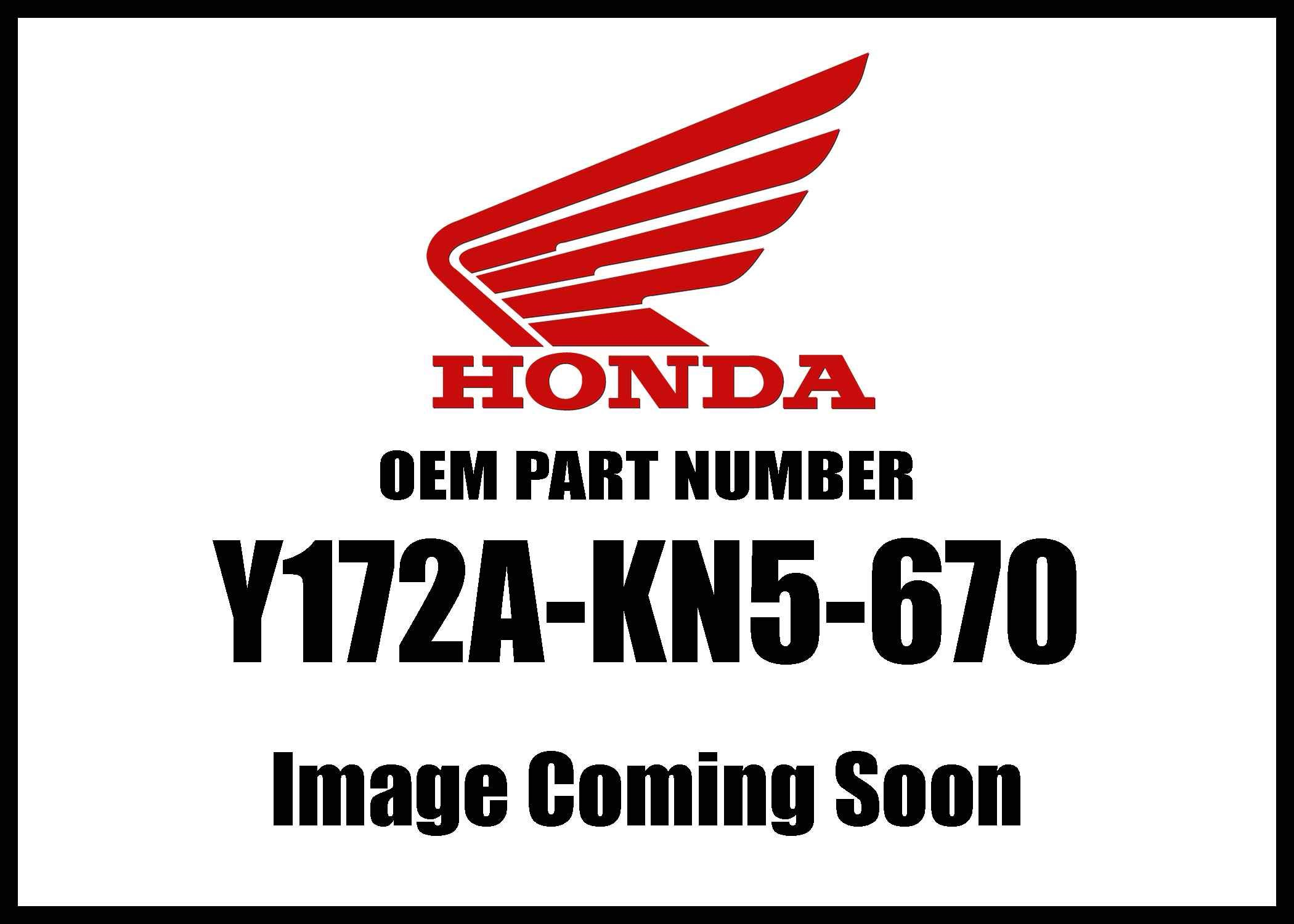 Honda Mc-Accy Washer Air/C Cover Y172a-Kn5-670 New Oem