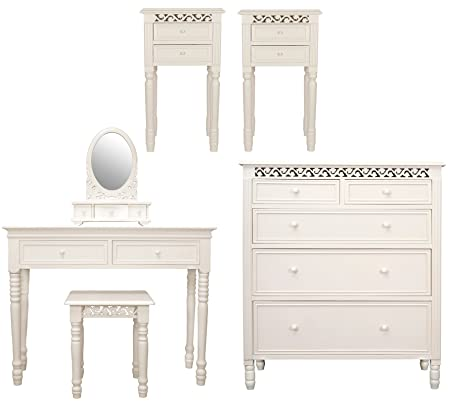 Sensational Six Piece Belgravia Style Bedroom Furniture Set In Ivory Home Interior And Landscaping Ologienasavecom