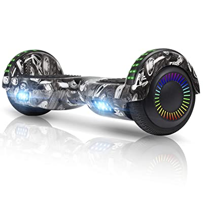 "FLYING-ANT Hoverboard UL 2272 Certified 6.5"" Two-Wheel Self Balancing Electric Scooter with LED Light Flash Lights Wheels Black (Free Carry Bag): Sports & Outdoors"