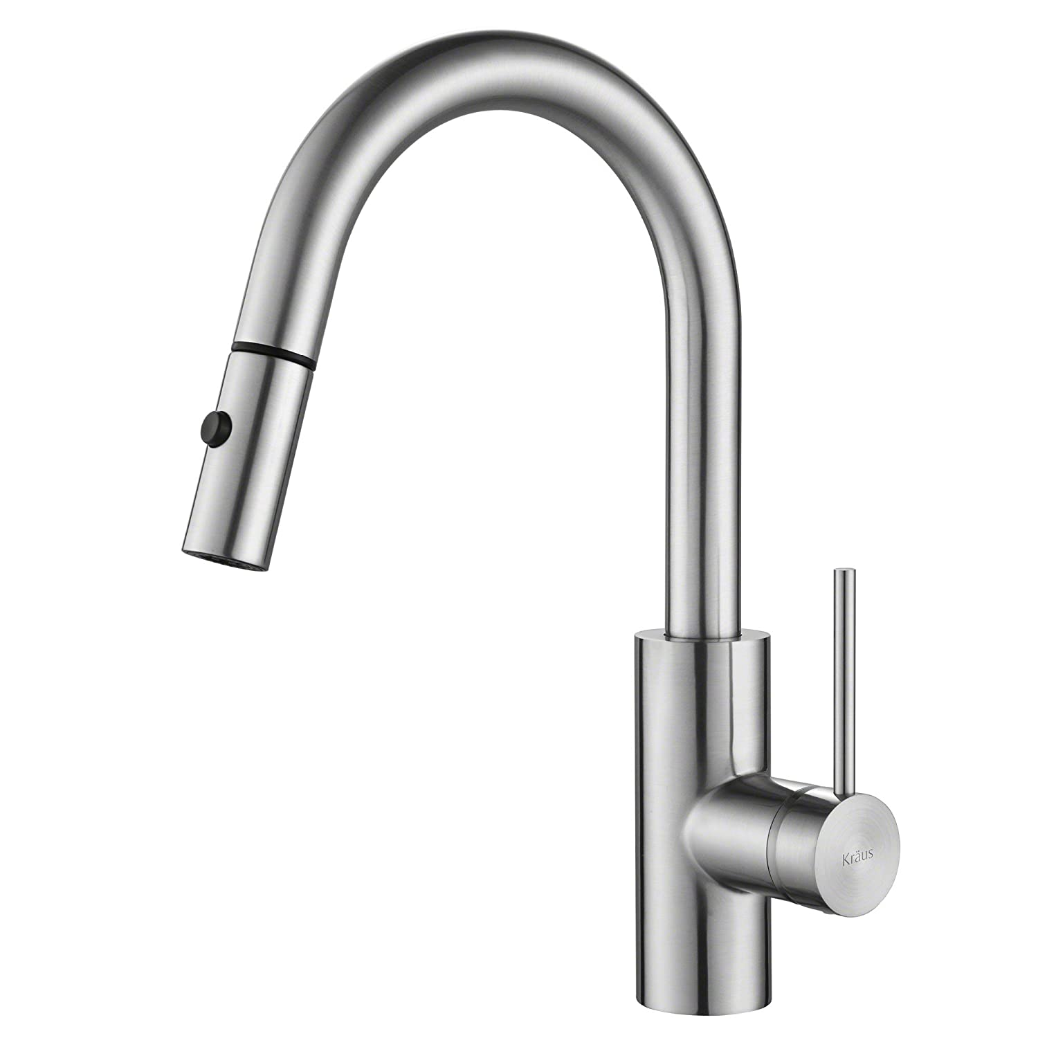 KRAUS Oletto Single Handle Pull Down Kitchen Faucet in Chrome Finish ...