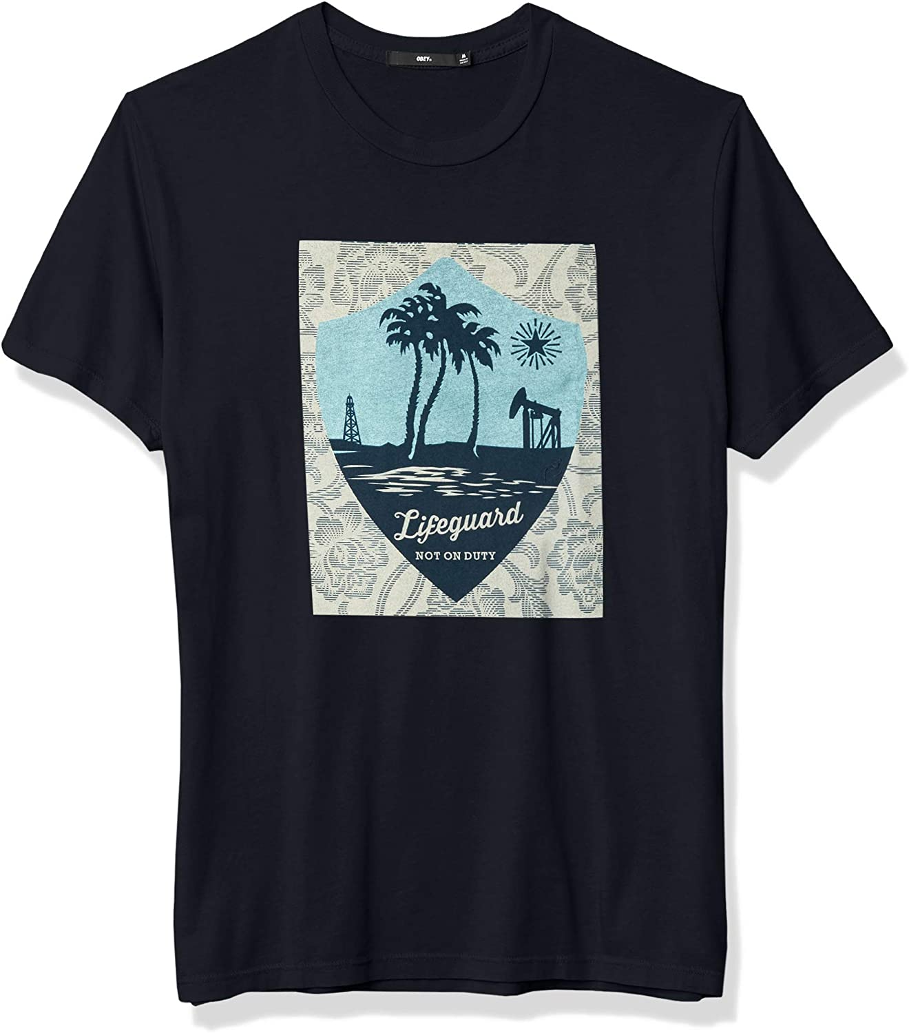 Obey Mens Superior Ss Lifeguard Not on Duty Tee