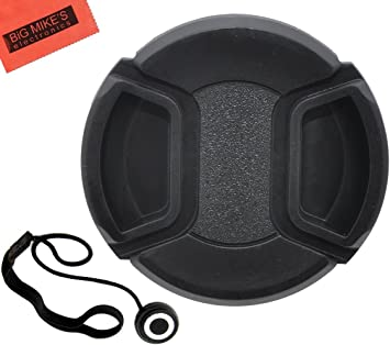 52mm Lens Cap Side Pinch Nw Direct Microfiber Cleaning Cloth For Fujifilm X-A2 + Lens Cap Holder