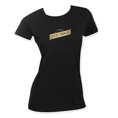 amazon negra modelo ladiesビールロゴteeシャツ カラー ブラック t