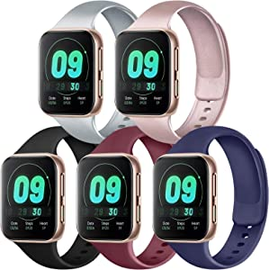 IEOVIEE [Pack 5] Compatible with Apple Watch Bands 38mm 42mm Series 6 5 4 3 2 1 & SE (Black/Rose Gold/Silver/Navy Blue/Wine Red, 38mm/40mm-S/M)