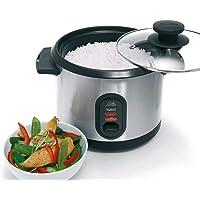Solis Rice Cooker 816 rijstkoker, zilver, tot 7 porties rijst bereiden, groenten stomen, slimme rijstkoker met…