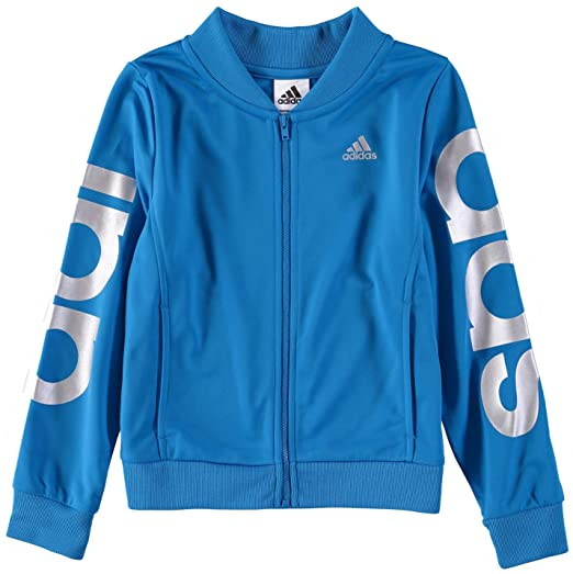 a9b877d6cfdaa adidas Girls' Big Tricot Bomber Track Jacket