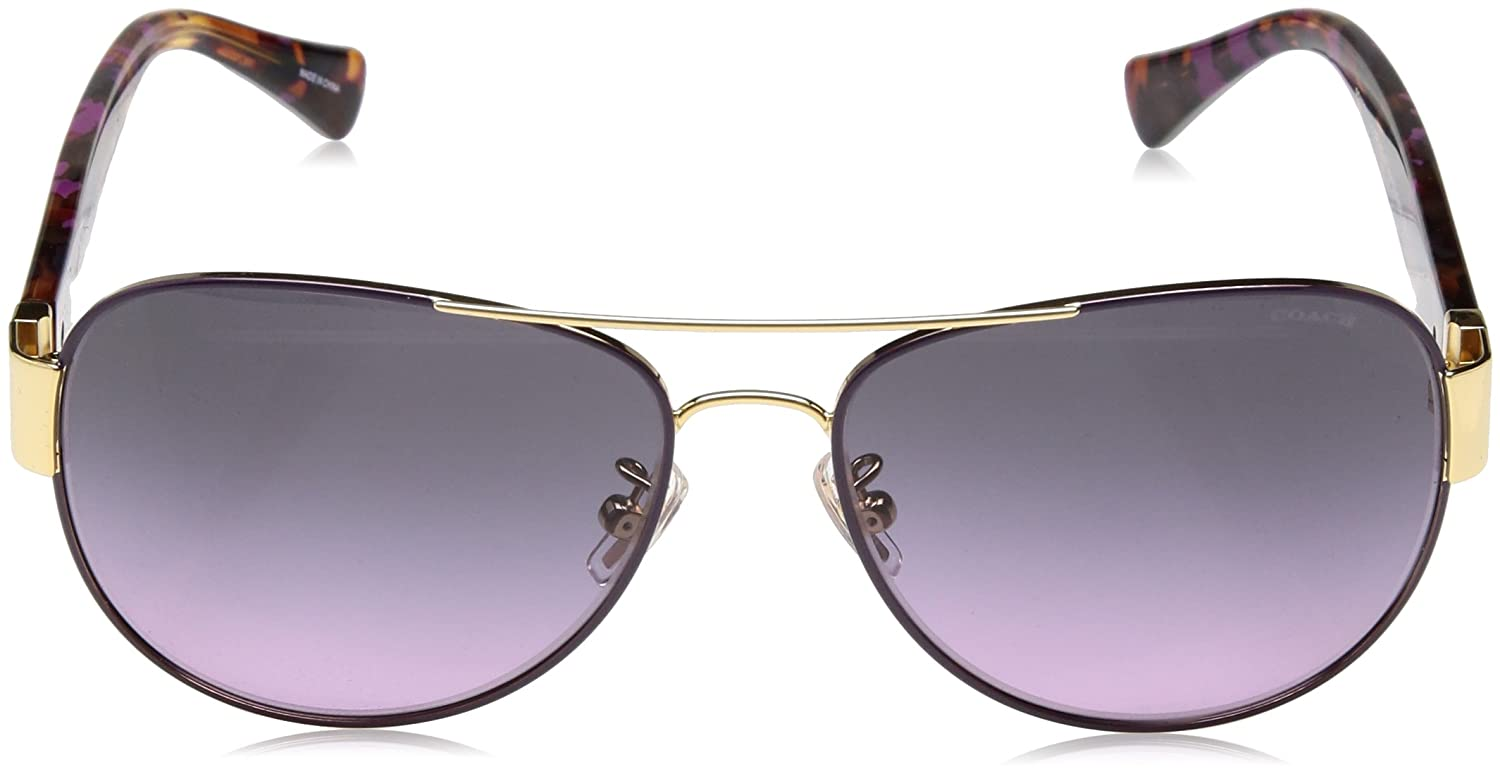 b8971e9b5197c Coach HC 7059 Sunglasses 924890 Gold Purple Purple Confetti 58-15-135   Amazon.co.uk  Shoes   Bags