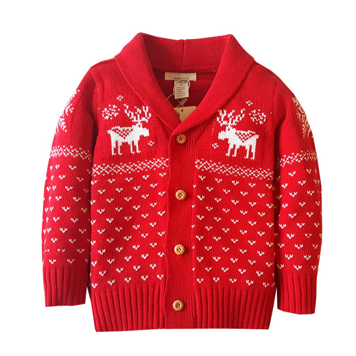 Dealone Baby Boys Girls Cardigan Sweater Toddler Knitted Jacket Outerwear BC0831