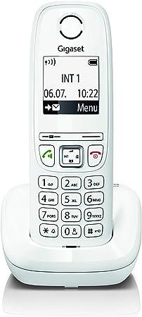 Gigaset AS405 - Teléfono Inalámbrico, Manos Libres, 100 Contactos, Pantalla gráfica iluminada 1.8