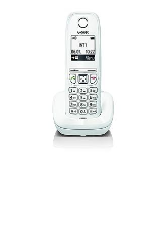 Gigaset AS405 - Teléfono inalámbrico con Manos Libres, Gran Pantalla con Letras Gigantes, Agenda de 100 contactos, Color Blanco