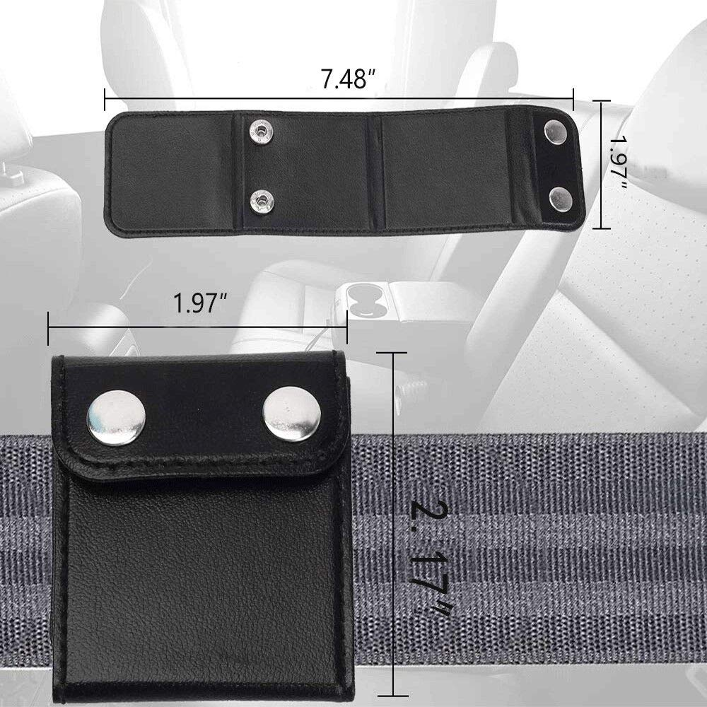 Seatbelt Adjuster for Adults LICY Vehicle Seat Belt Cover Clips for Universal Comfort Automotive Belt Strap 2 Pack Black