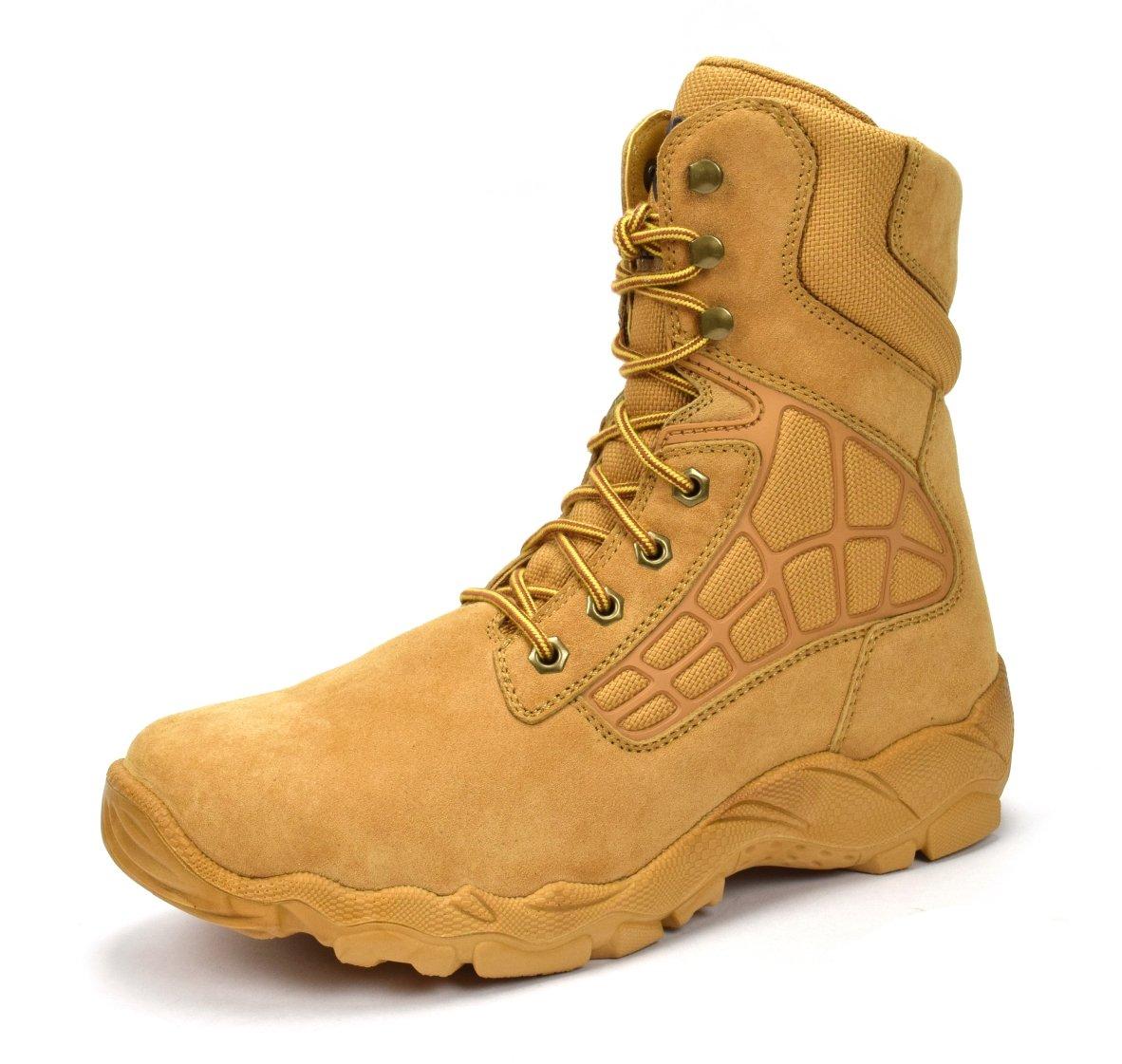 CONDOR Arizona Men's 8'' Steel Toe Work Boot - Wheat, Size 12 E US