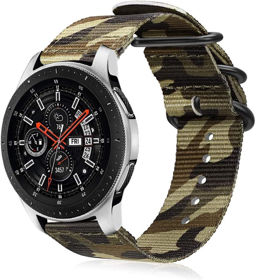 Fintie Correa Compatible con Samsung Galaxy Watch 46mm/Gear S3 Classic/Gear S3 Frontier/Huawei Watch GT - Pulsera de Repuesto de Nylon Tejido Banda Ajustable con Hebilla de Metal,