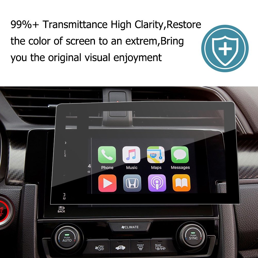 2016 2017 2018 Honda Civic COUPE/HATCHBACK 7-inch In-Dash Screen Protector, Car Navigation Screen Protective Film, Compatible With The LX EX EX-T EX-L Touring Si (7-Inch)
