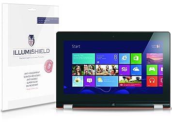 iLLumiShield Screen Protector Compatible with Lenovo IdeaPad Yoga 13 inch (2-Pack) Clear HD Shield Anti-Bubble and Anti-Fingerprint PET Film