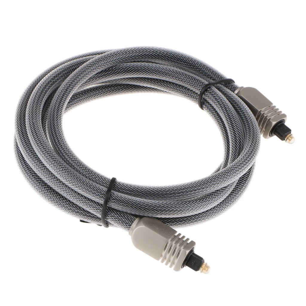 MagiDeal Digital Fiber Optical Toslink Cable for Home Theater, Sound Bar,Speaker-2M by Unknown