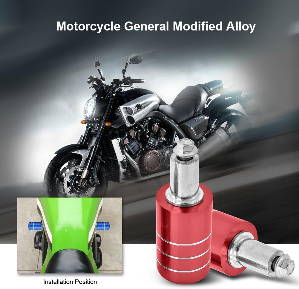 Akozon Tornillo Apoyo de la Motocicleta Aleaci/ón de aluminio Defensa protector de motor Universal para moto//motocicleta//ATV negro