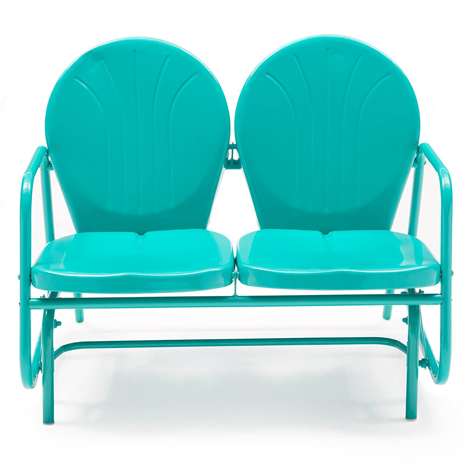 Amazon.com : Coral Coast Vintage Retro Outdoor Glider Loveseat : Garden U0026  Outdoor