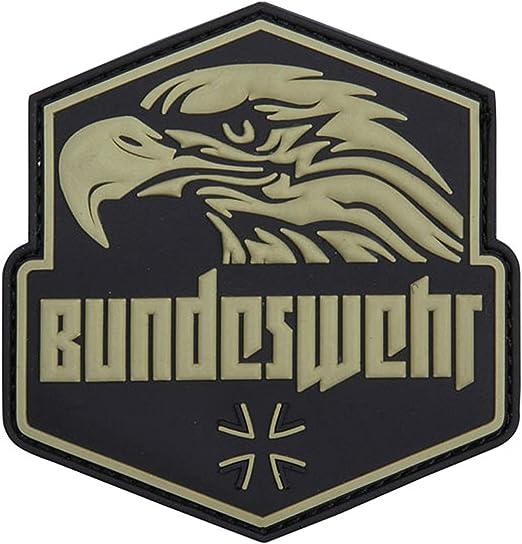 Bundeswehr Águila Patch 3D Rubber BW Cintura Airsoft Uso Cruz Parche de Velcro Compañía survivalismo Alemania 8,5 cm # 22986: Amazon.es: Juguetes y juegos