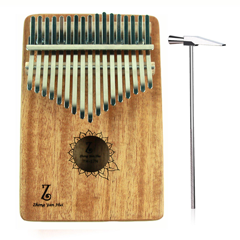 Thumb Piano 17 keys Kalimba African Mahogany Mbira Finger Piano Mahogany Body Music Instruments Gift Zhongyuanhui