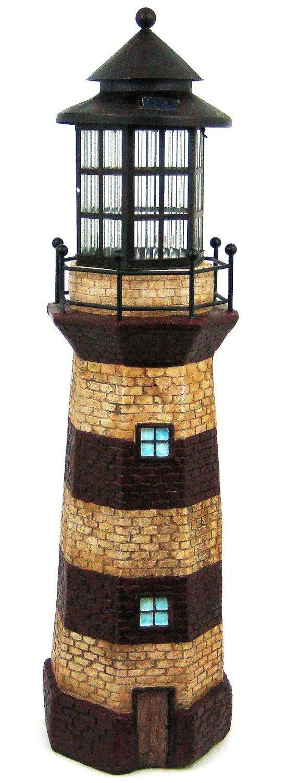 Solar Lighthouse Tower Solar Light GREEN / IVORY 39 by Solar Wholesale