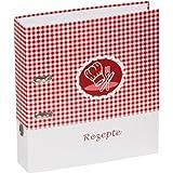 Pagna Ringbuch - Archivador A4 con anillas para recetas de cocina, rojo
