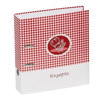 Pagna Ringbuch - Archivador A4 con anillas para recetas de cocina, rojo: Amazon.es: Oficina y papelería