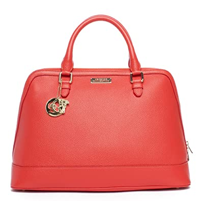 9049971bf48a9 Versace Collection Women s Leather Top Handle Handbag Satchel Red  Versace   Amazon.co.uk  Shoes   Bags