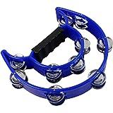 YMC Half Moon EZ Grip Tambourine 20 Jingles - Blue …