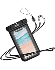 """Waterproof Phone Case YOSH IPX8 Watertight Sealed Underwater Waterproof Phone Cases Pouch Bag Dry Bag with Lanyard for iPhone X XR XS 8 7 6s Plus Samsung S10 S9 S8 Huawei P30 P20 Mate20 Pro up to 6.1"""""""