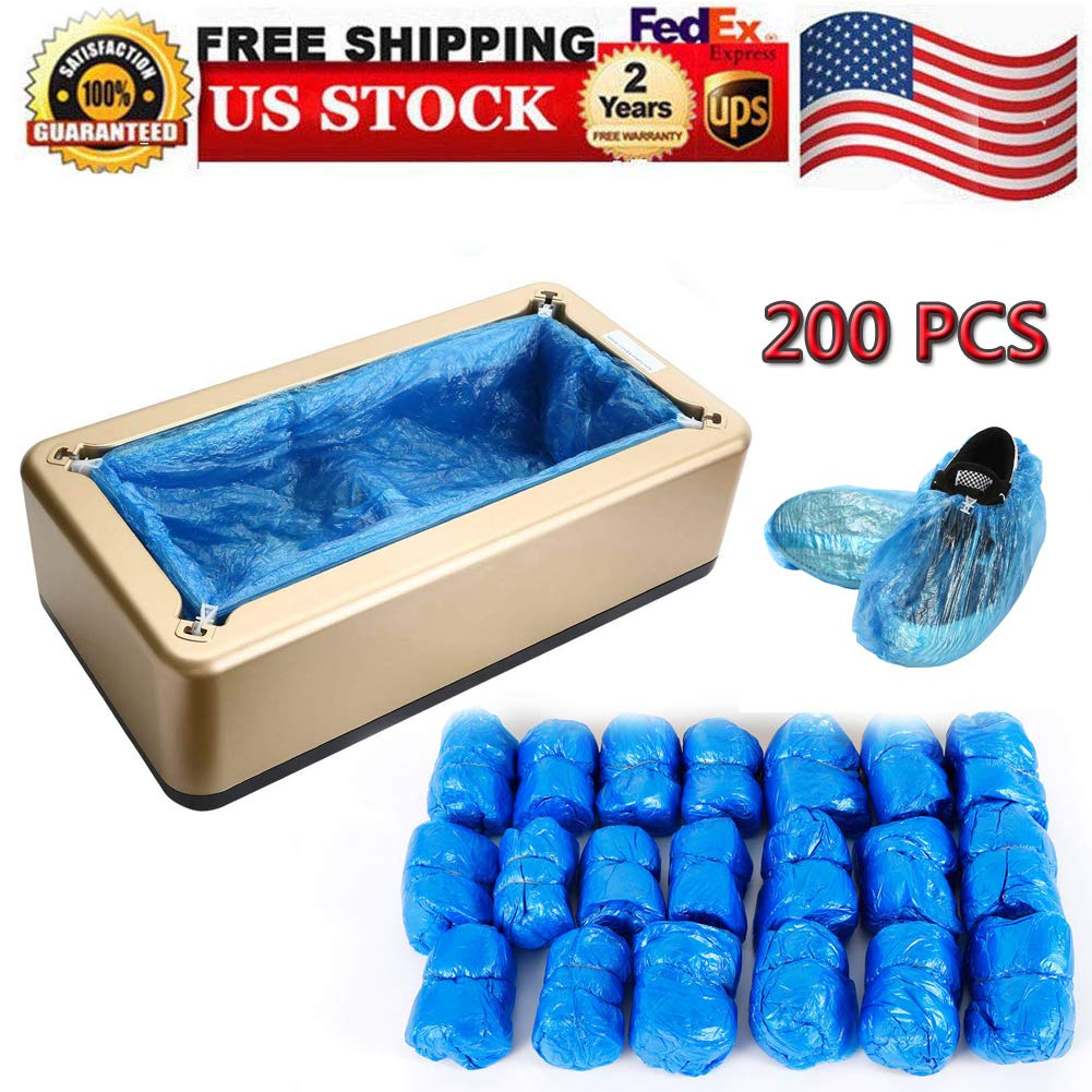 Shoe Covers Machine, Automatic Shoe Cover Dispenser with 200pcs Disposable Plastic Boot &Shoe Cover, Portable Shoes Boot Cover Dispenser Shoes Cover Machine Perfect for Medical, Home, Shop and Office by feiuruhf