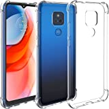 Restoo Moto G Play 2021 Case,Slim Clear Case with 4 [Shock Absorption] Corners Flexible Soft TPU Bumper Protective Cover for