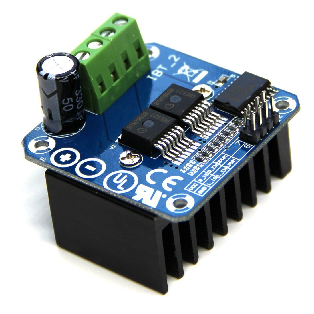 Hiletgo Bts7960 43a High Power Motor Driver Module Smart Mcu Control Speed And Direction Car For Arduino Current Limit Electronics