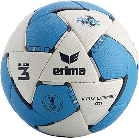 erima G11 TBV Lemgo 2.0 - Balón de balonmano blanco Weiß/curacao ...