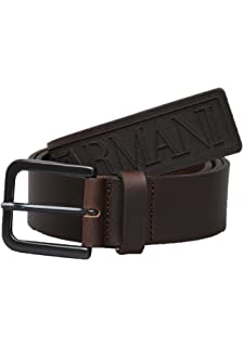 Emporio Armani ceinture - Hommes y45199 ydd5v MAXI LOGO Ceinture en marron 850cf9eb084