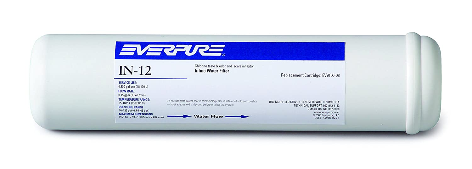 Everpure EV910007 In-12 In-Line Filter without Fittings