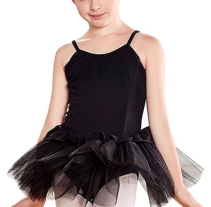 Feoya - Maillot de Vestido Ballet Tirantes con Tutú Gimnasia Estirable Leotardo con Encaje Clásica para