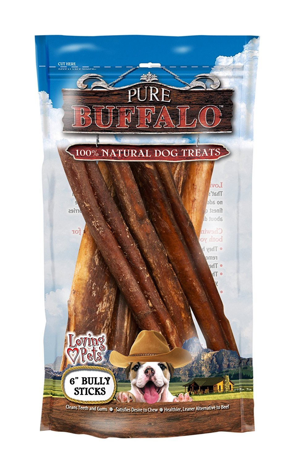 Loving Pets Pure Buffalo 6-Inch Bully Stick Size:Pack of 2 by Loving Pets (Image #1)