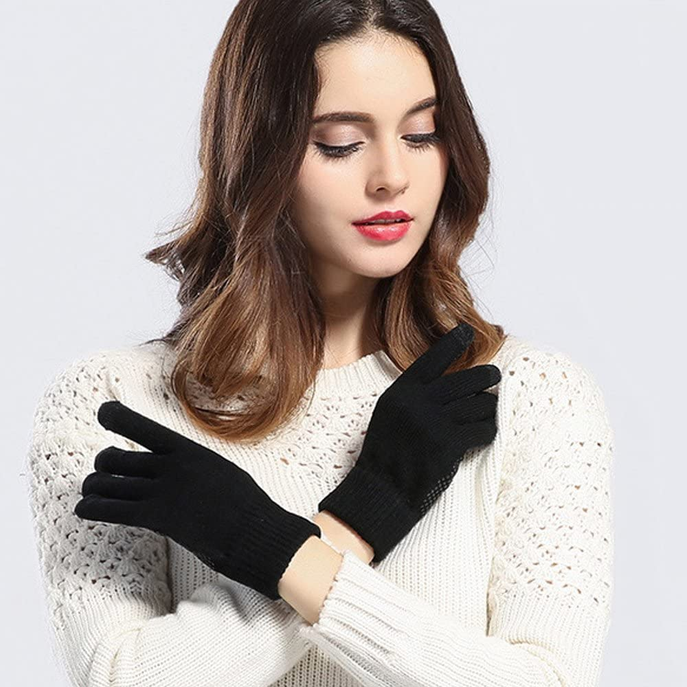 2 Pack Knit Touchscreen Gloves,Winter Warm Touch Screen Gloves Texting Gloves for Men and Women