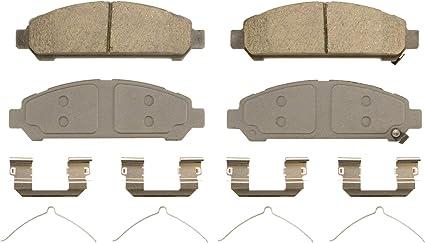 with Installation Hardware Front Bendix CFC1401 Premium Copper Free Ceramic Brake Pad