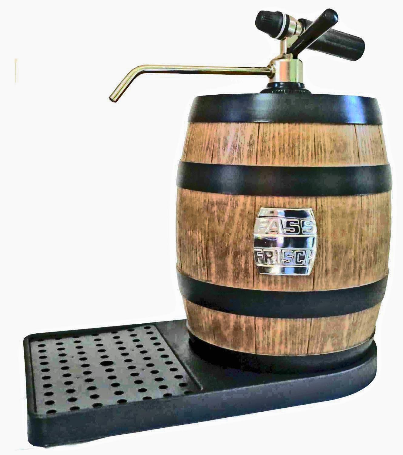 Luxury Table-Top Beer Dispenser with CO2 Device for 5 L Party Kegs Fass-Frisch®