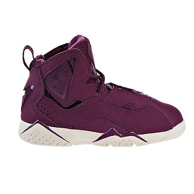 big sale fe0f7 c1e19 Image Unavailable. Image not available for. Color  Jordan Nike Boy s True  Flight Basketball Shoe (PS), Bordeaux Bordeaux-Sail
