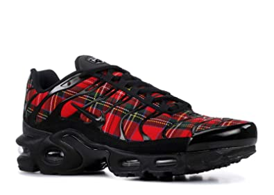 ae06f861e5 Nike Women's WMNS Air Max Plus TN SE, Black/Black University RED, ...